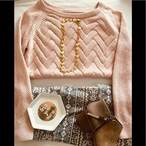 Blush Pink Oversized Sweater-Size M